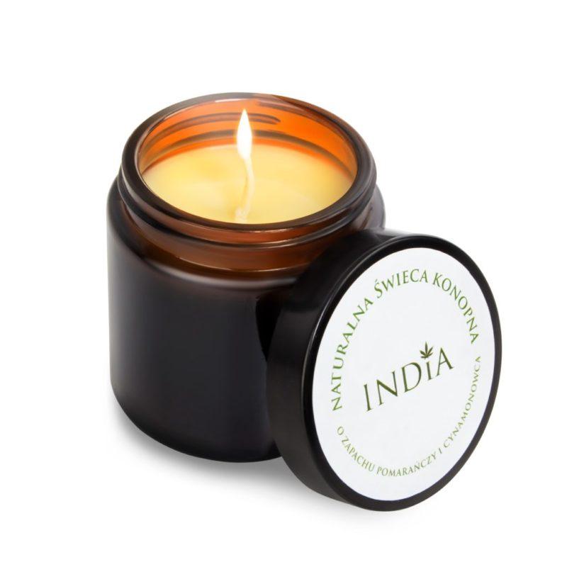 Bougie de massage naturelle à l'huile de chanvre